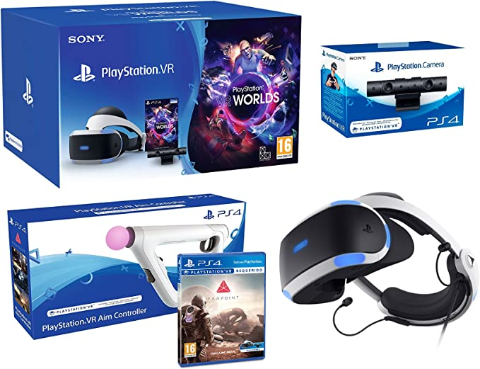 PlayStation VR + Farpoint + Aim-Controller PS4 + PS4 Camera V2 ...
