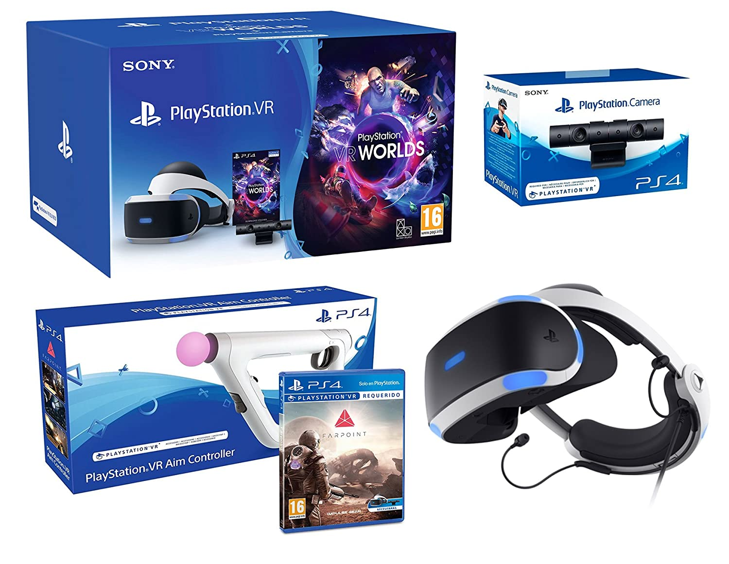 Farpoint Sony Playstation Vr Aim Controller Box Only Last Style Original Game Cases & Boxes