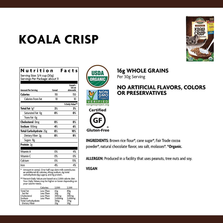 e832f90dc Amazon.com: Nature's Path EnviroKidz Koala Crisp Chocolate Cereal, Healthy,  Organic, Gluten-Free, 11.5 Ounce Box (Pack of 6): Cold Breakfast Cereals