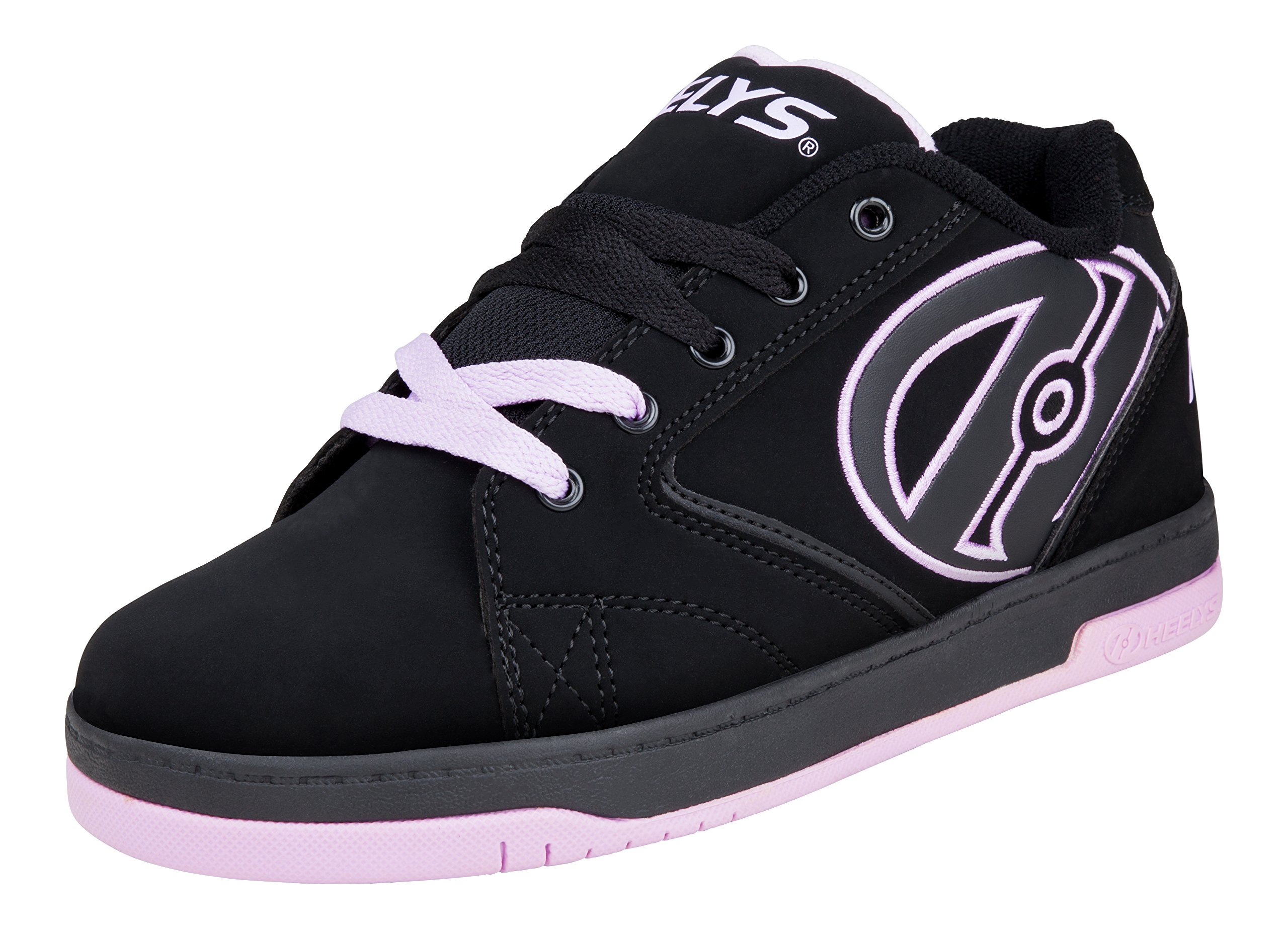 Heelys Girl's Propel 2.0 (Little Kid/Big Kid/Adult) Black/Lilac Sneaker 13 Little Kid M