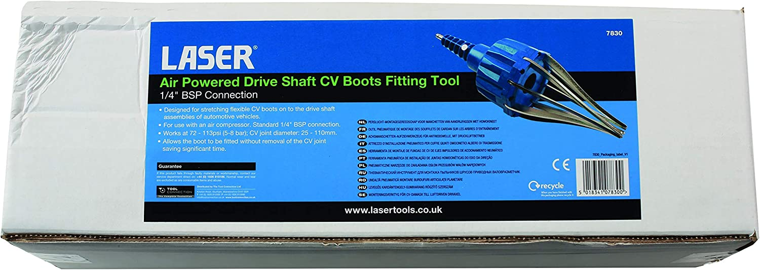 Laser Tools 7830 Air Powered Drive Shaft CV Boot Fitting Tool