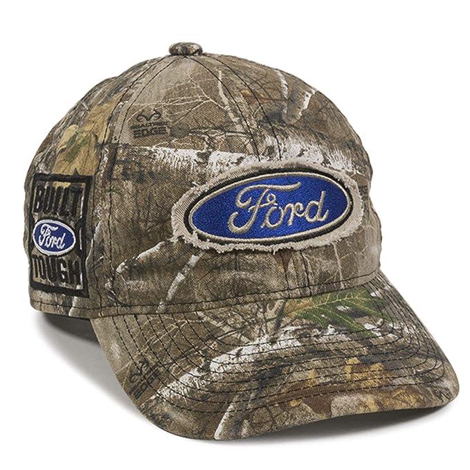 9a61c936c1b4f Amazon.com  Outdoor Cap Ford Built Tough Logo Realtree Edge Camo Hat ...