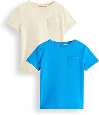 Marca Amazon - RED WAGON Camiseta de Algodón para Niños, Pack de 2 ...