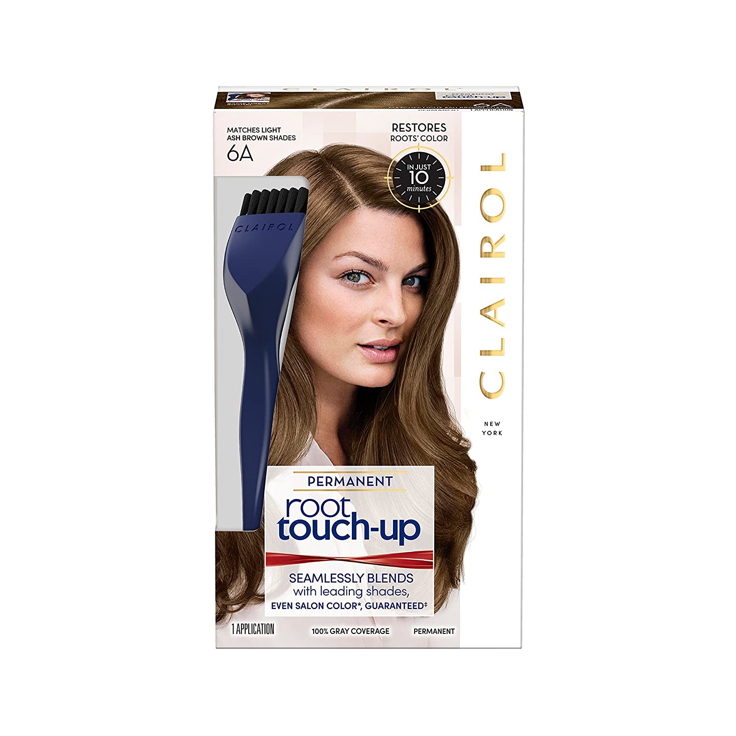 Clairol Nice 'n Easy Root Touch-Up, 6A Light Ash Brown, Permanent Hair Color, 1 Kit (Pack of 2) 3.81519E+11
