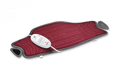 Beurer HK55 - Almohadilla electrónica cervical / lumbar con superficie suave y transpirable, cinturón ajustable, 3 potencias, 100 W, lavable, apagado ...
