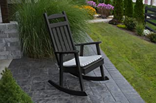 product image for Furniture Barn USA Outdoor Poly Classic Porch Rocker - Black