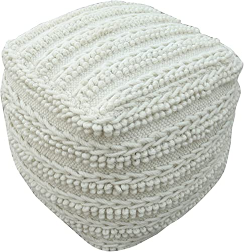 Christopher Knight Home Ben Boho Wool Pouf