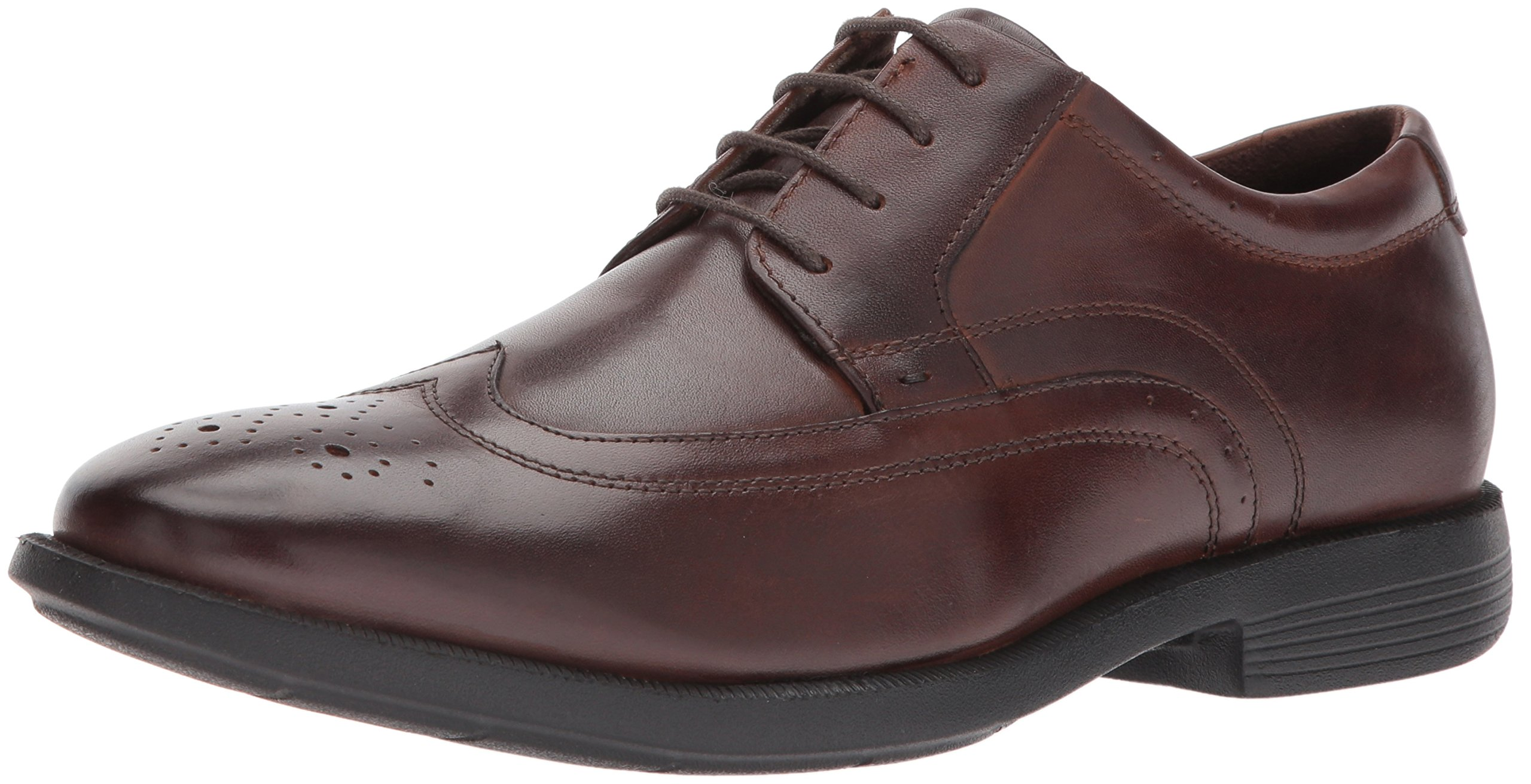 Nunn Bush Men's Decker Wing-Tip Lace up Oxford with KORE Comfort Technology