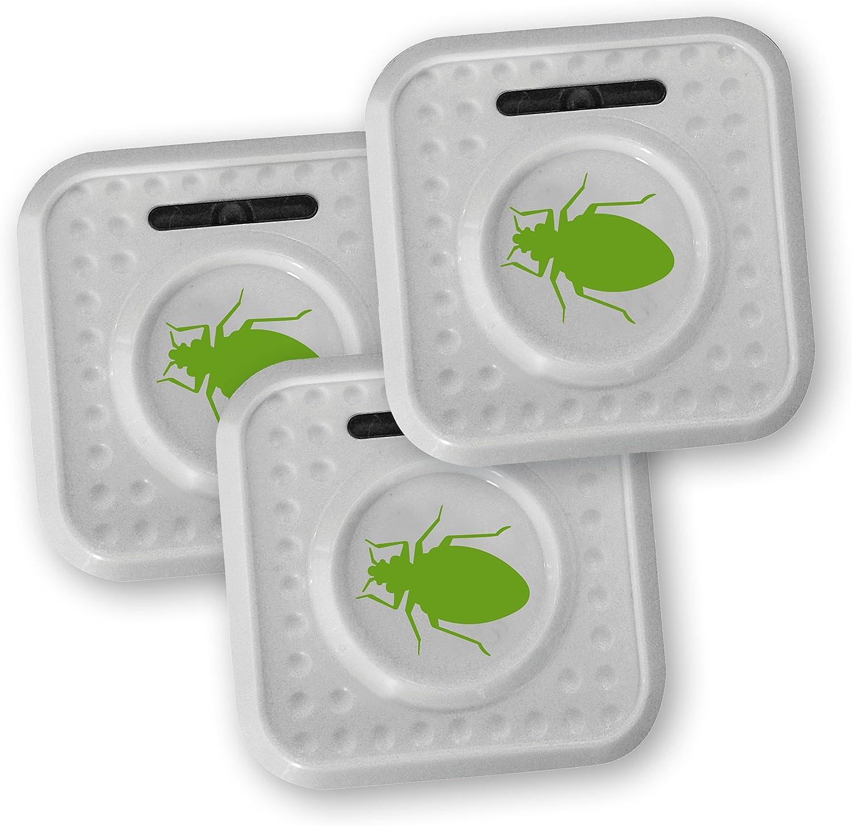 ISOTRONIC® Repelente de Insectos contra chinches y ácaros, Alimentado por batería, Protección por ultrasonido y con Alto Alcance - Paquete de 3 Piezas