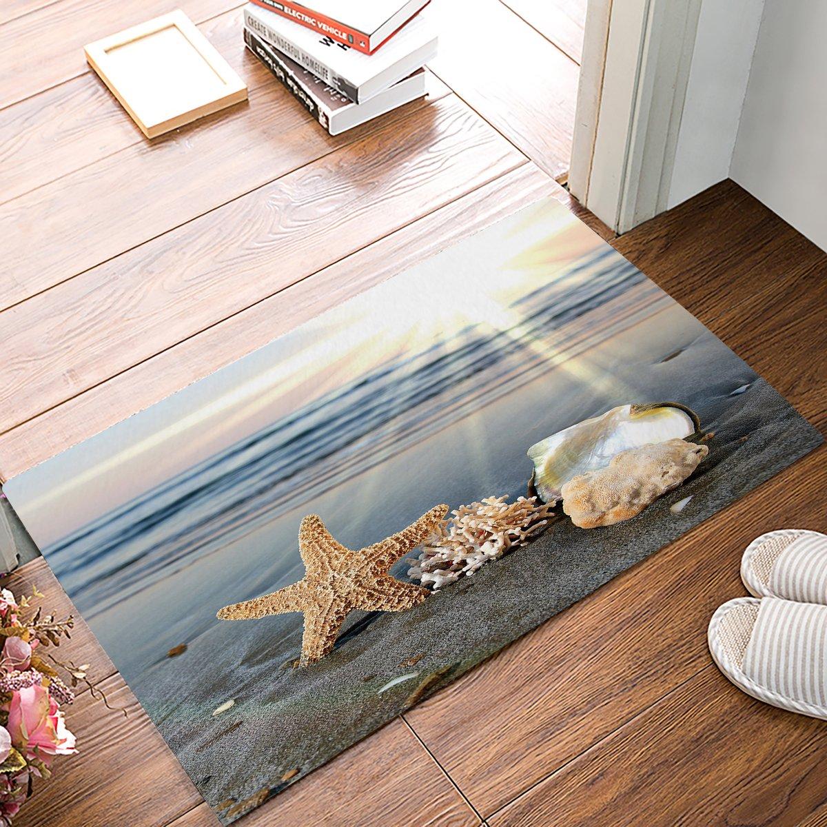alago sea starfish shells coastal scents doormats entrance. Black Bedroom Furniture Sets. Home Design Ideas