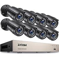 ZOSI Kit de Videovigilancia 8CH H.265+ Grabadora DVR con (8) 2MP Cámara de Vigilancia Exterior, Visión Nocturna, Alarma…