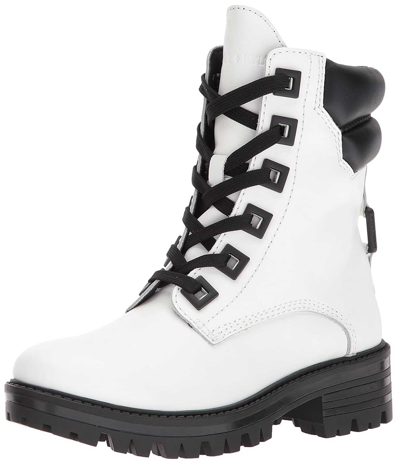 KENDALL + KYLIE Women's East Combat Boot B071KX1MLW 5 B(M) US|White