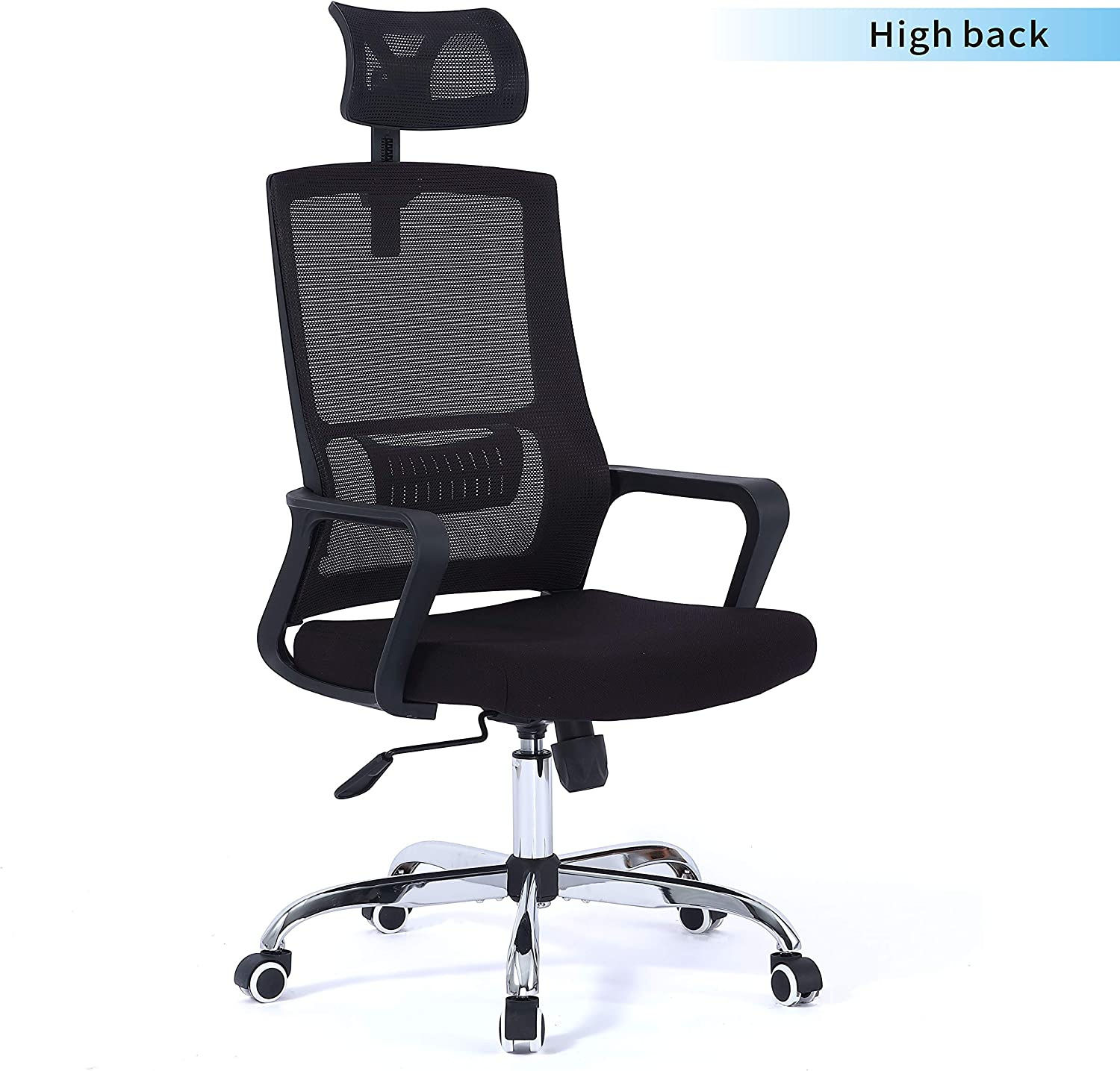 BELND Ergonomic Office Chair, Mesh Chair with Lumbar Support, High Back Desk Chair with Breathable Mesh, Breathable Mesh Seat Cushion, Office Computer Desk Chair with Adjustable backrest and headrest