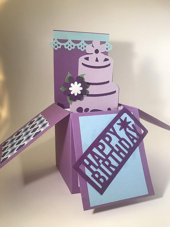 Peachy Amazon Com Handmade Birthday Cake Box Pop Up Box Card Handmade Funny Birthday Cards Online Inifofree Goldxyz