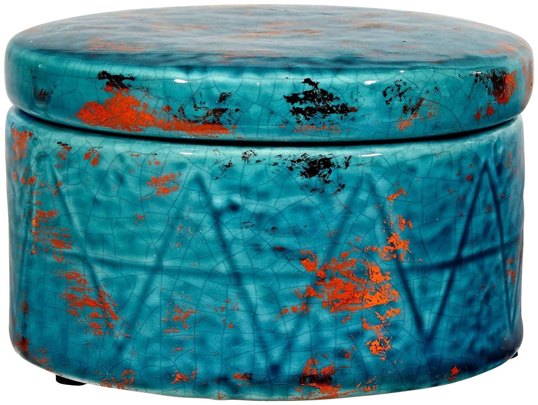 Three Hands Copper Accent Jar Blue