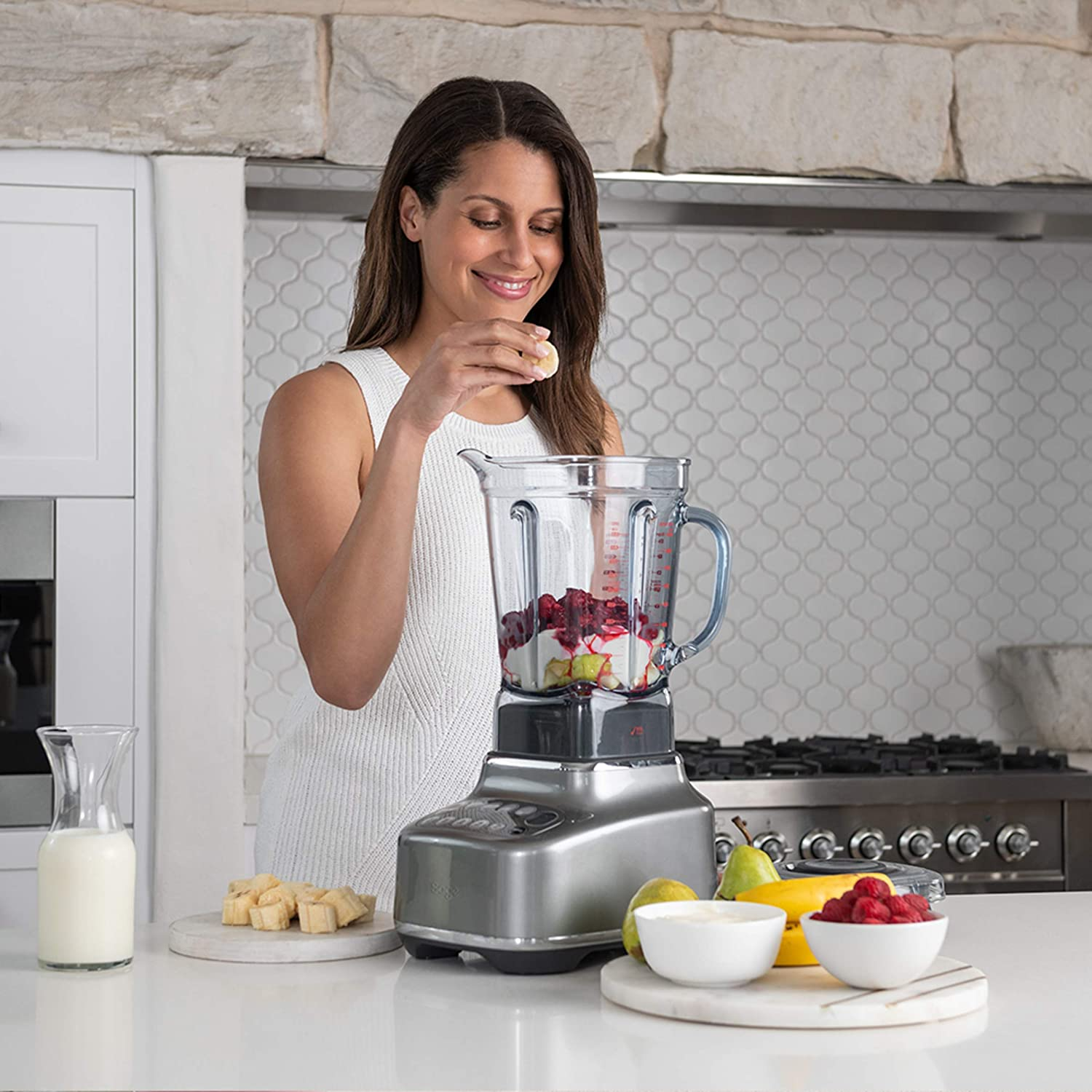 Abs 2400 W Smoked Hickory Sage Sbl820shy The Q Q Super Blender 2 Liters Small Kitchen Appliances Kitchen Home Appliances