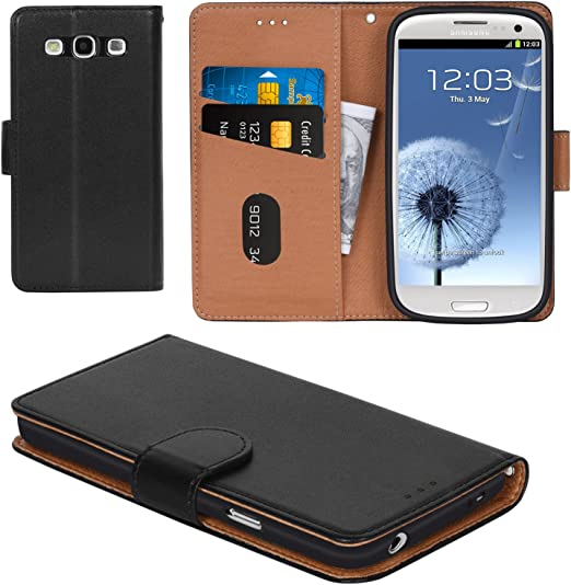 Galaxy S3 Case Aicoco Flip Cover Leather Phone Wallet Case For Samsung Galaxy S3 Black Amazon Ca Cell Phones Accessories