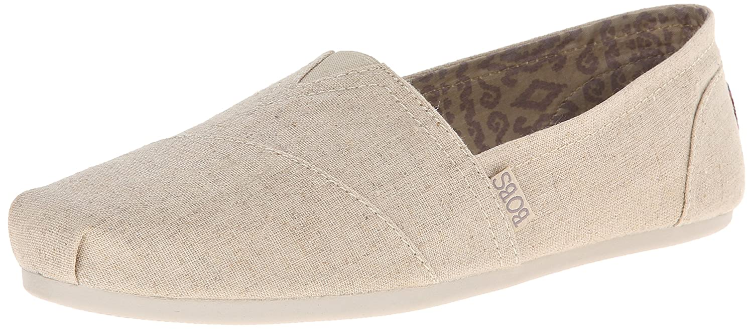 Skechers BOBS from Women's Plush Fashion Slip-On Flat B00MIFZ67C 9 B(M) US|Natural Linen