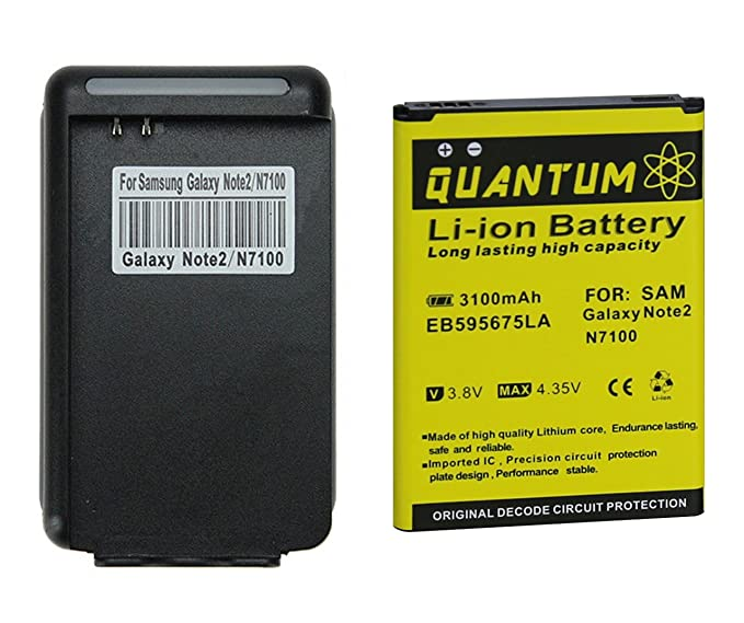 Amazon.com: Batería QUANTUM para Samsung Galaxy Note 2 ...