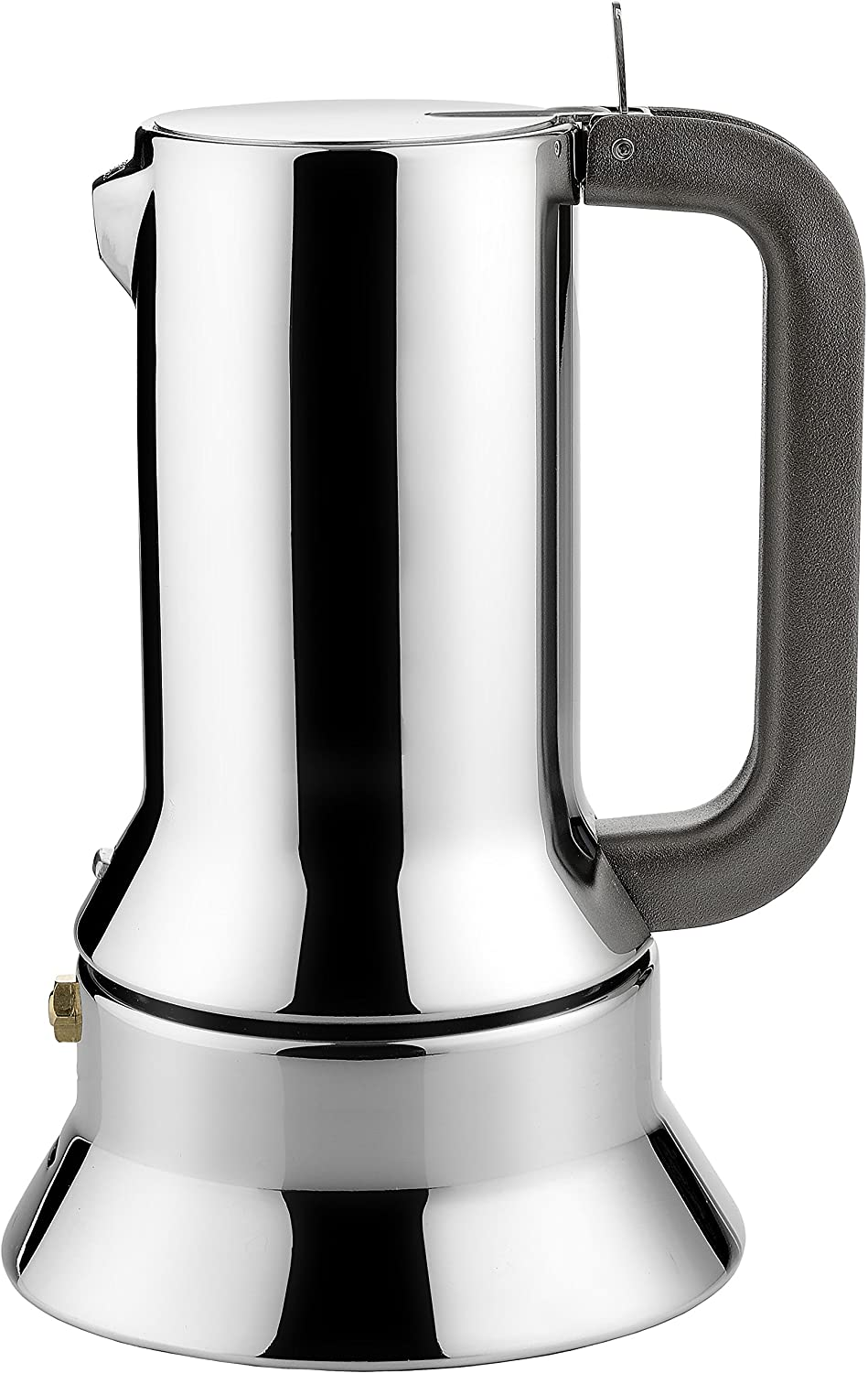 Alessi 3-Cup Espresso Coffee Maker in 18/10 Stainless Steel Mirror Polished with Magnetic Heat Diffusing Bottom 9090/3 Coffee Makers Coffee Tea & Espresso designer