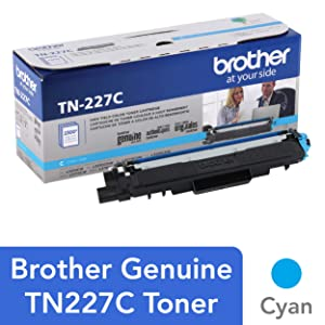 Brother Genuine TN227C, High Yield Toner Cartridge,Replacement Cyan Toner, Page Yield Up to 2,300 Pages, TN227, Amazon Dash Replenishment Cartridge
