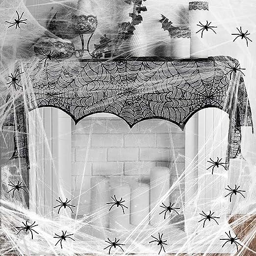 Spinnennetz-Schale Halloween Deko schwarz 27cm Cod.154665