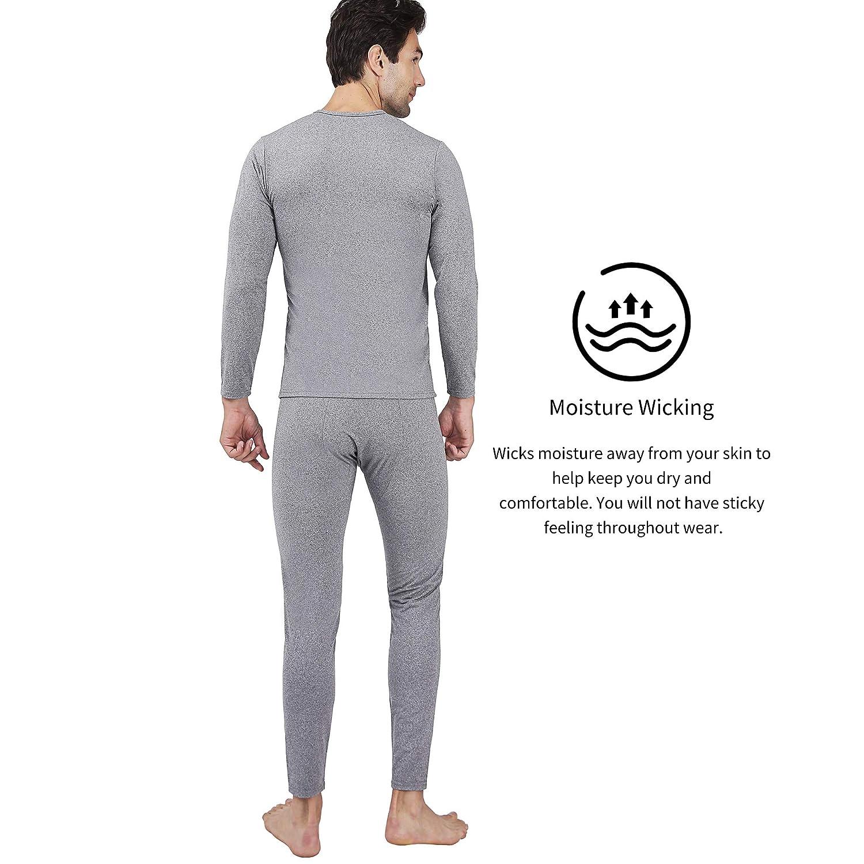 Serecofo Conjunto de Ropa Interior T/érmica para Hombres Forro/Polar o/Vell/ón/Polar Camisa de Manga Larga Top /& Calzoncillos Largos Pantalones Largos para Hombres Ultra Suave /& C/álido