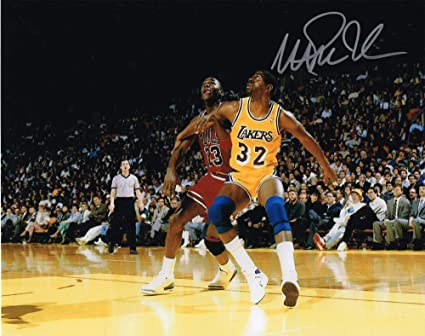 3bca03b5c Image Unavailable. Image not available for. Color  Autographed 8X10 Picture Magic  Johnson Point Guard Lakers COA