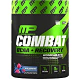 MusclePharm® Combat BCAA + Recovery – 10 G of BCAAs and EAAs to Support Recovery, Muscle Development, Replenish Electrolytes, and Support Lean Muscle Maintenance, Blue Raspberry, 30 Servings