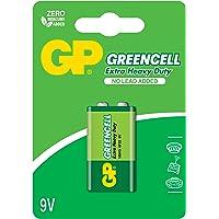 Gp Batteries Gp1604G Greencell 6F22/1222/9V Pil, 9 Volt, Tekli Kart