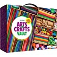 Arts and Crafts Vault - 1000+ Piece Craft Kit Library in a Box for Kids Ages 4 5 6 7 8 9 10 11 & 12 Year Old Girls & Boys - C