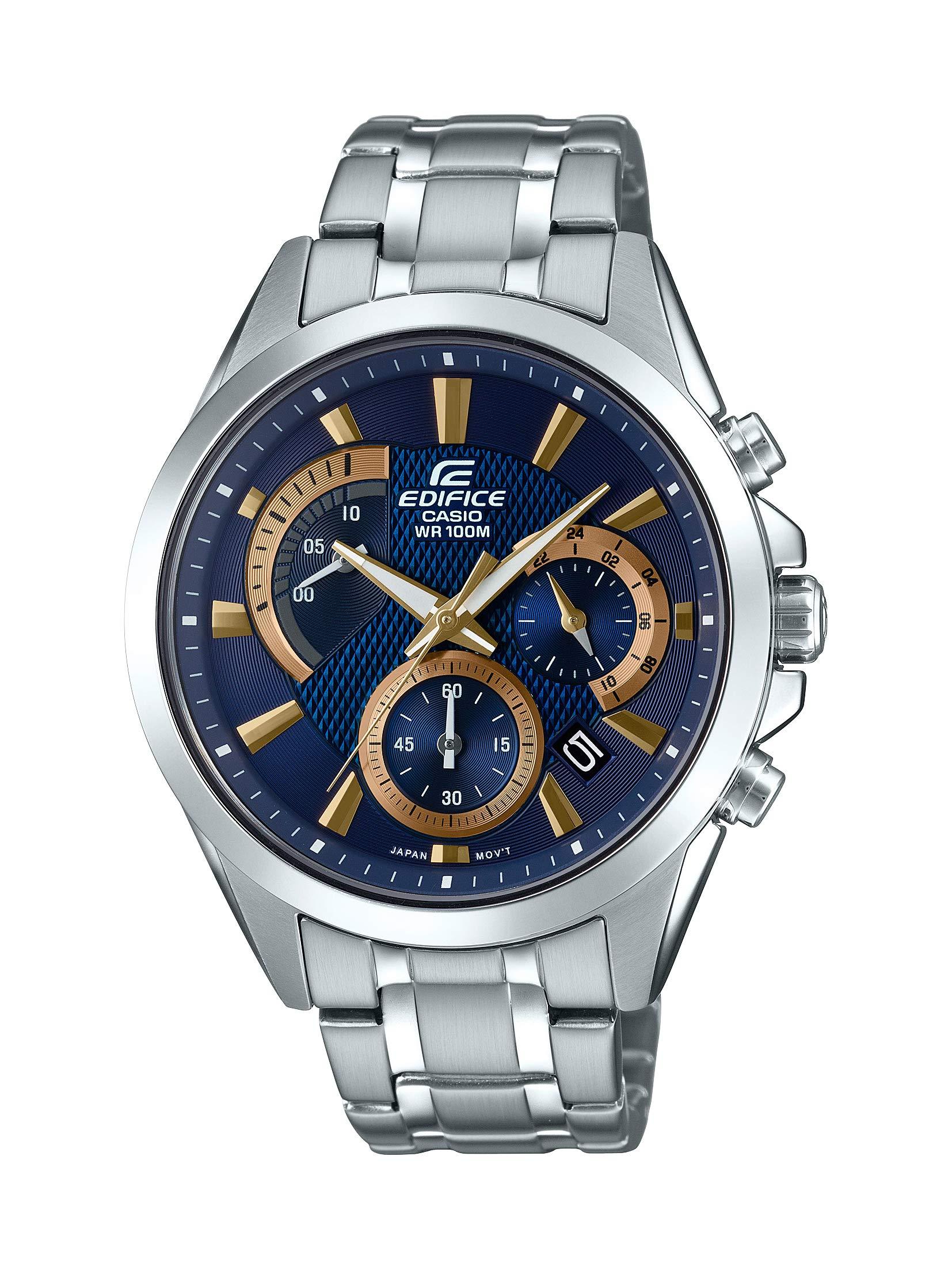 Casio Men's Edifice Silver Quartz Watch with Stainless-Steel Strap, 21.6 (Model: EFV-580D-2AVUDF)