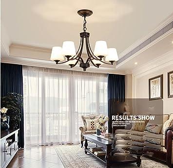 AuBergewohnlich Maniny 6 Kopf Wohnzimmer Kronleuchter Europäische Landhaus Stil Schlafzimmer  Deckenleuchte Natürliche Idylle Einfache Restaurant Hängelampe Moderne