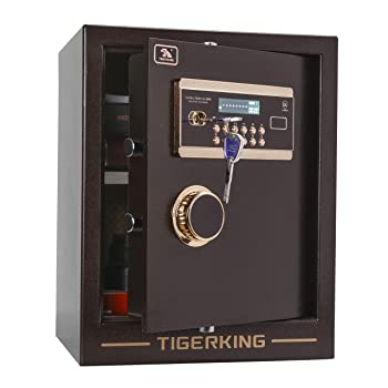 TIGERKING Digital Live Locking Home/Office Steel Security Safe