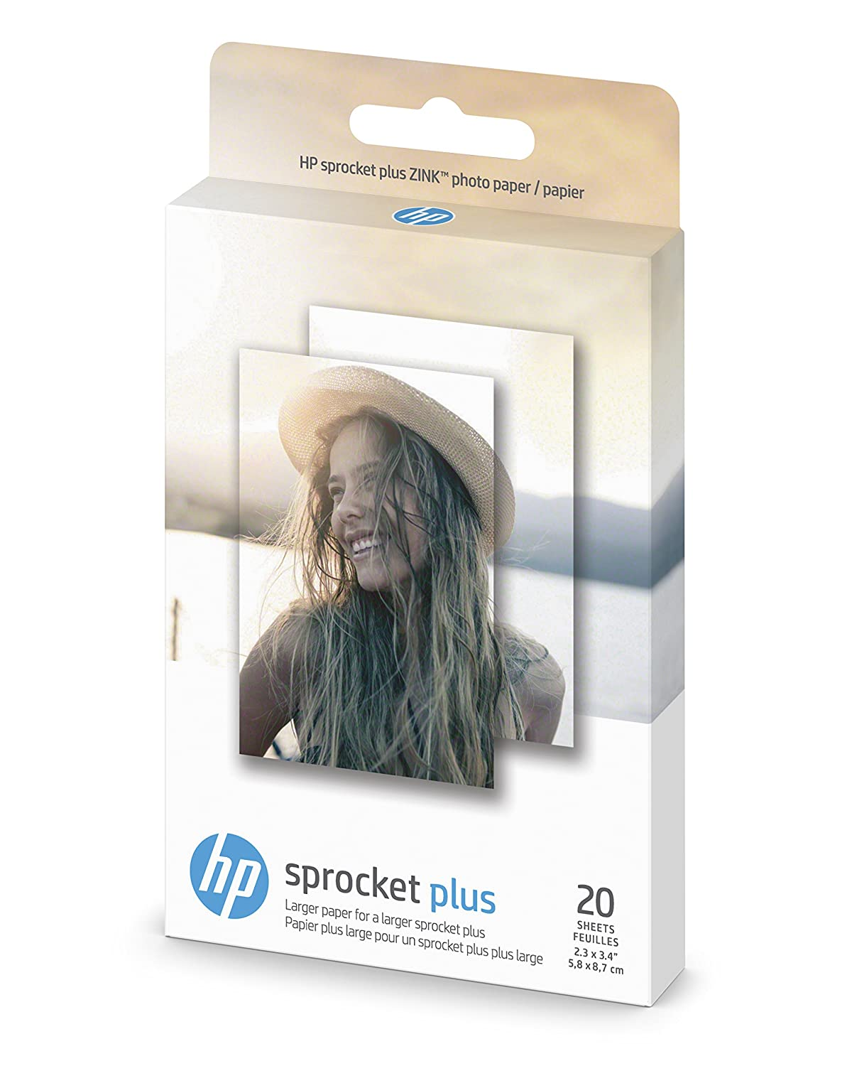 20 Hojas Papel Fotografico Para Hp Sprocket Plus