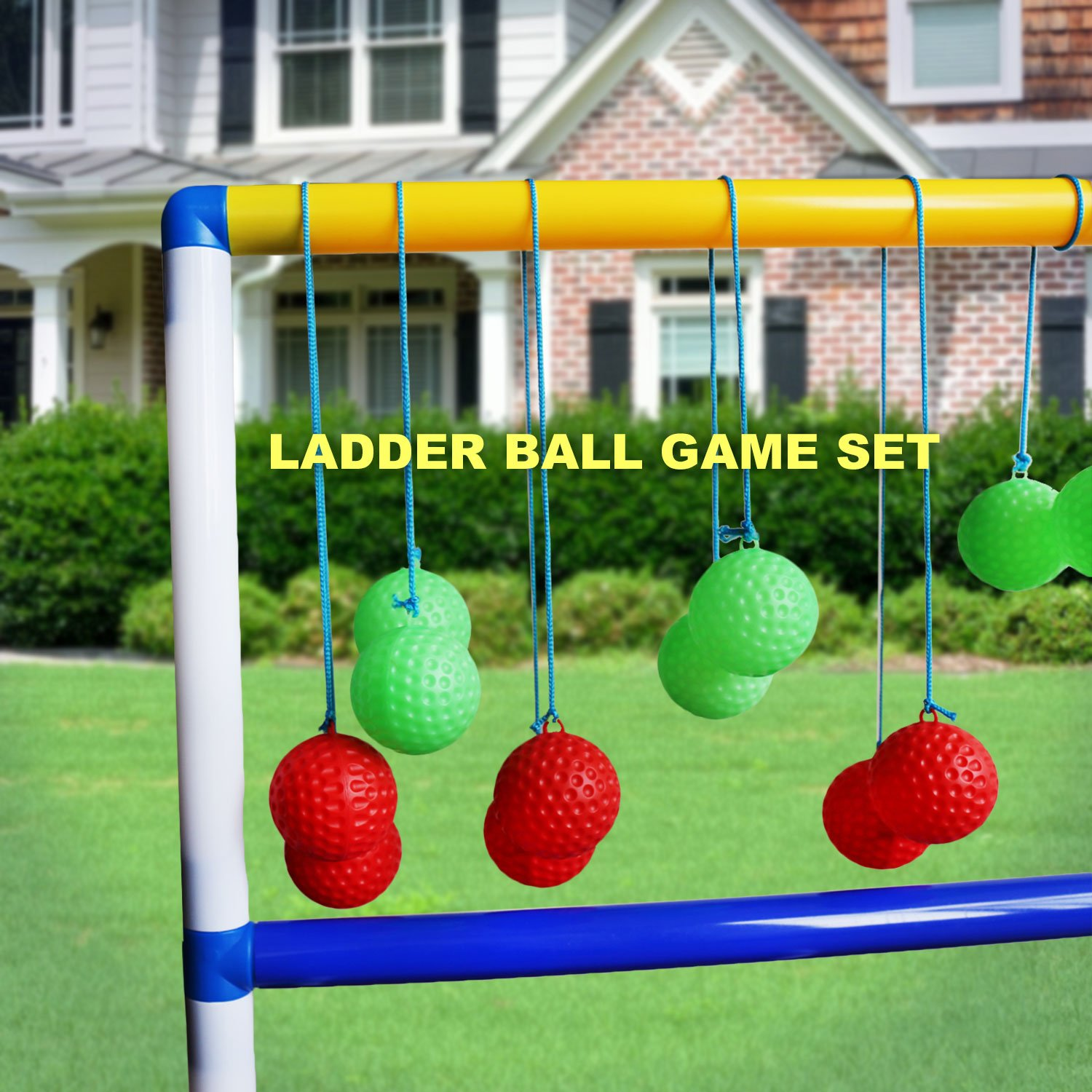for Backyard One Piece Game Set for Adults /& Kids Lawn Beach Camping Freshday Ladder Toss Ball Game Set Pool