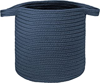 """product image for Colonial Mills Farm Braided Hamper Laundry, 16""""x16""""x20"""", Dusk Blue"""