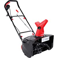 Snow Joe SJM988 Electric Single Stage Snow Thrower | 18-Inch | 13.5 Amp Motor | Headlights (Red)