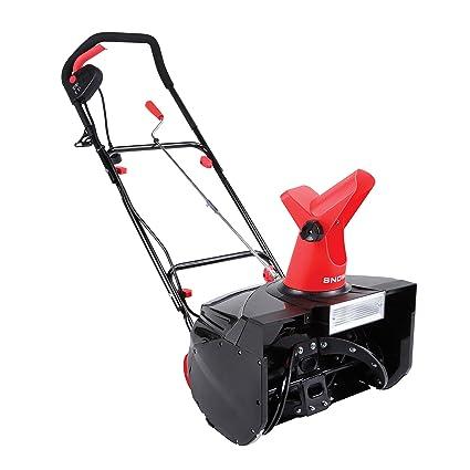 Snow Joe SJM988 Electric Single Stage Snow Thrower | 18-Inch | 13 5 Amp  Motor | Headlights (Red)