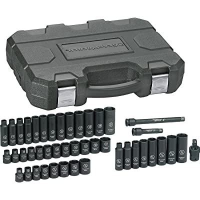 "GEARWRENCH 44 Pc. 3/8"" Drive 6 Point Standard & Deep Impact SAE/Metric Socket Set - 84916N"