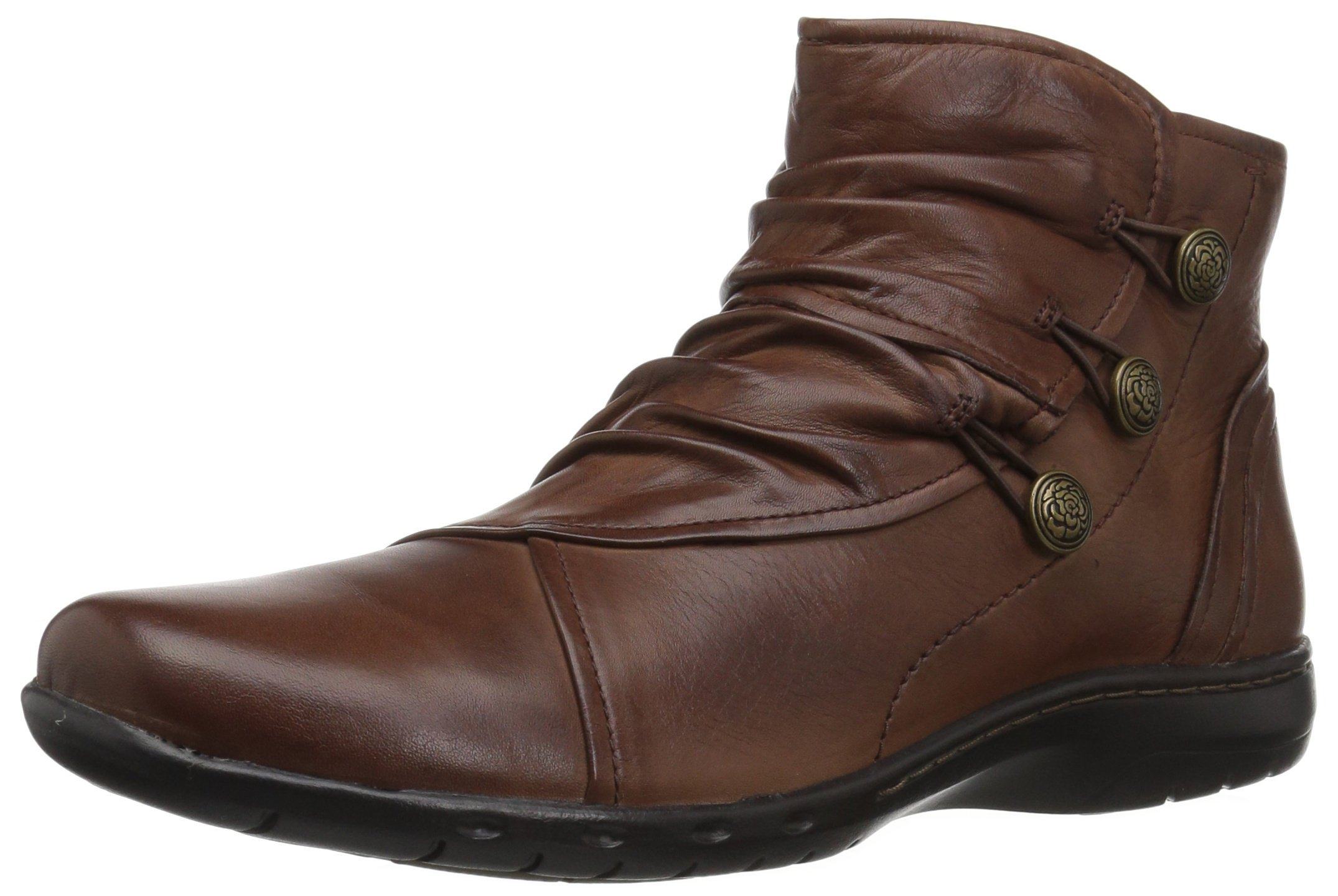 Rockport Cobb Hill Women's Cobb Hill Penfield Boot, Almond Leather, 6.5 W US
