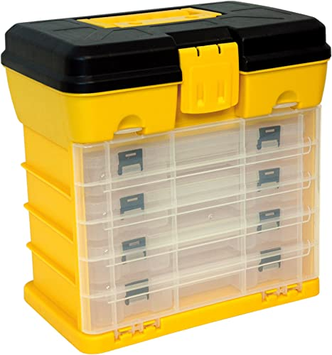 Homak 12-Inch Plastic Portable Parts Organizer, Large, Yellow, HA01040121