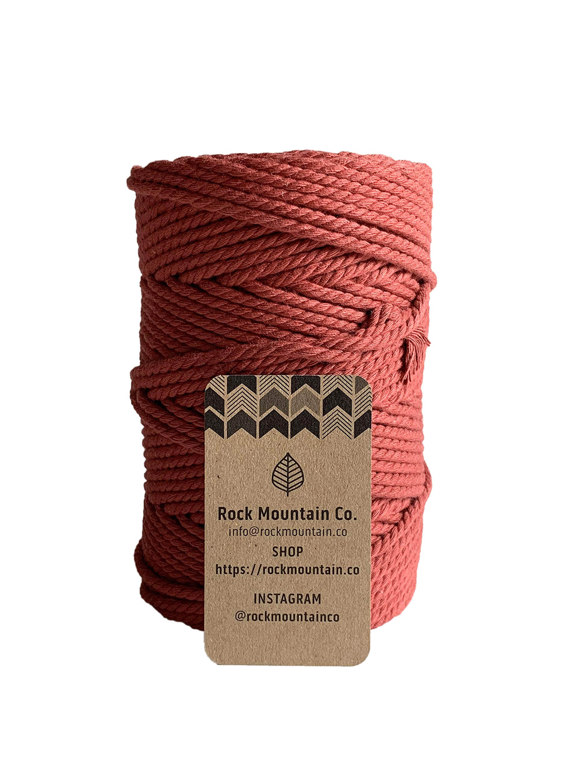 4mm 3 Strand Twisted Macrame Rope - Chili Red