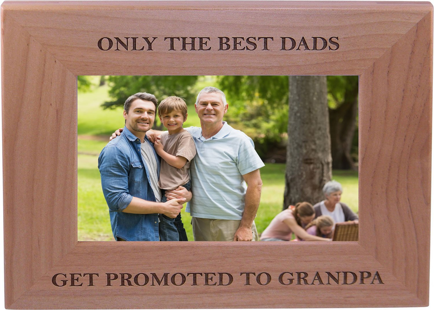 Only The Best Dads Get Promoted to Grandpa 4x6 Inch