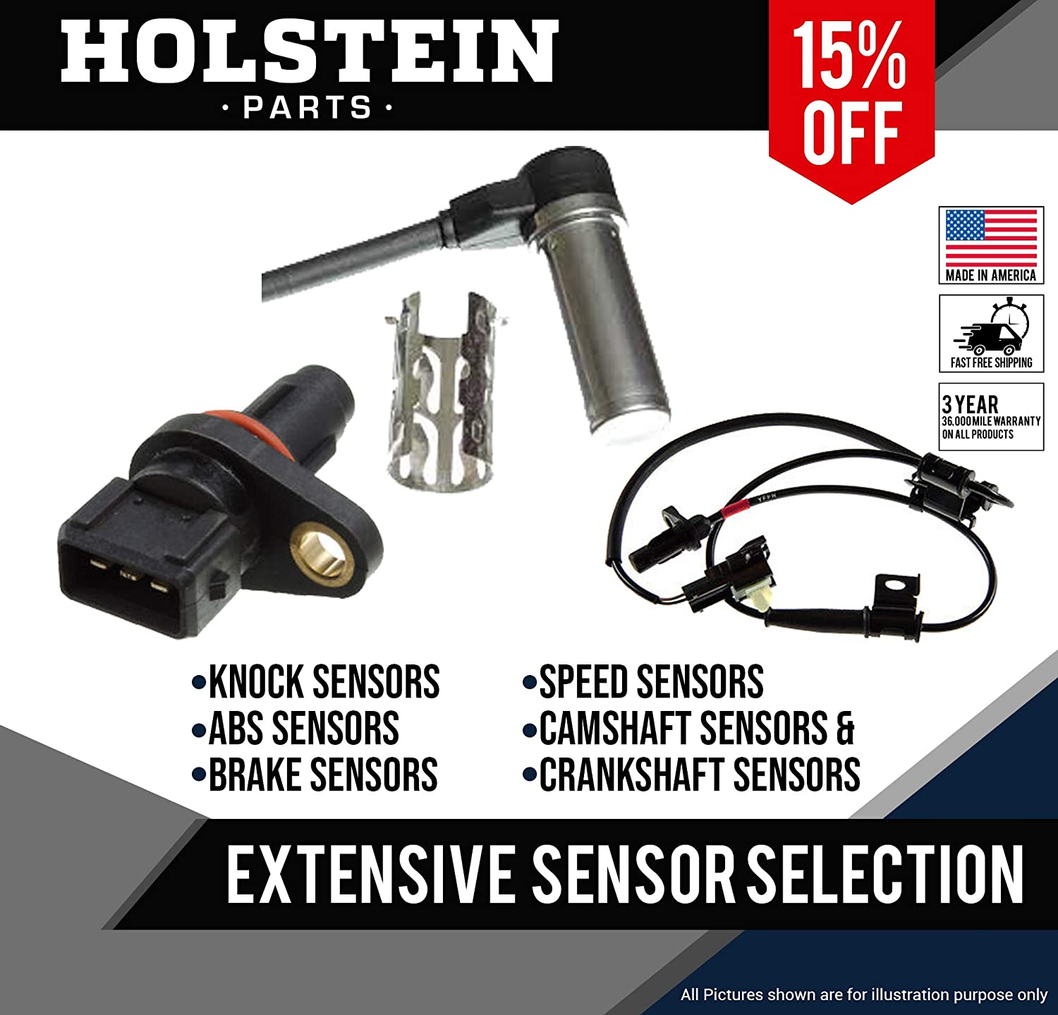 Holstein Parts  2CRK0270 Crankshaft Position Sensor