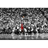 "Michael Jordan Last Shot 1998, Peel and Stick Removable Wall Decals Sticker (36""x24"")"