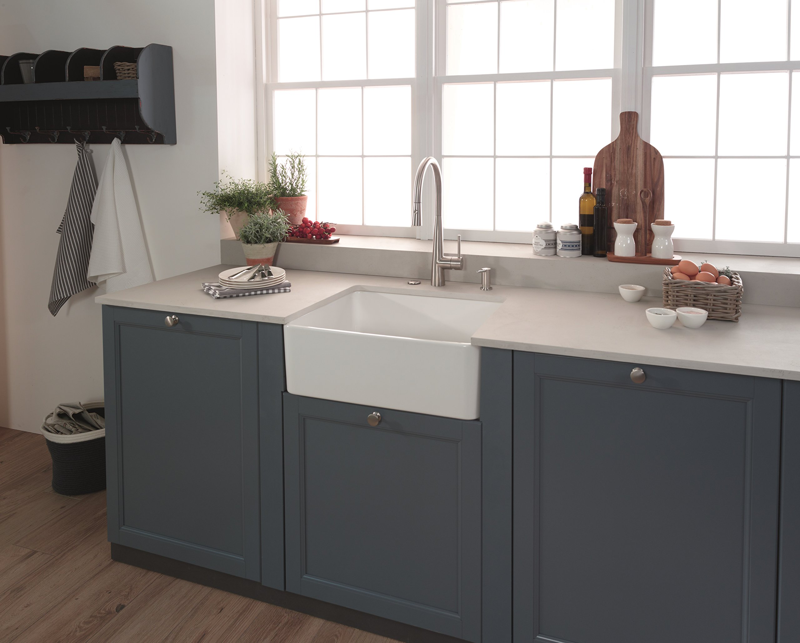Franke SD3450 Steel Counter-Sunk Kitchen Top Refill Soap Dispenser, Steel