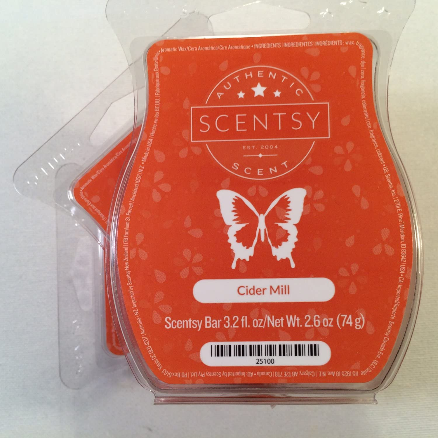 Scentsy, Cider Mill, Wickless Candle Tart Warmer Wax 3.2 Oz Bar, 3-pack (3)
