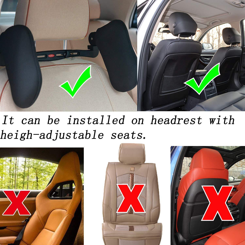 Adatto per adulti e bambin TINDERALA Cuscino per collo con nylon alto elastico Cuscino per auto Supporto collo per collo per auto supporto retraibile su entrambi i lati Poggiatesta per sedile auto