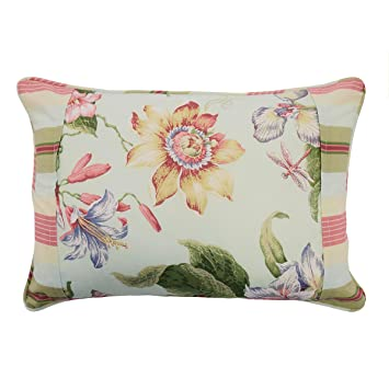Amazon.com: Waverly Laurel Springs Pieced almohada, 14 x 20 ...